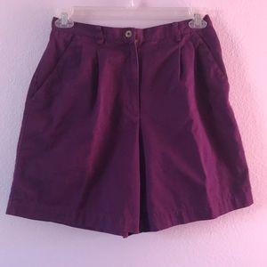 Vintage purple Liz Claiborne cotton shorts